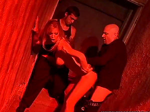 Blonde and Asian chicks suck hard-ons and get fucked