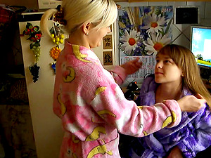 Beautiful lesbians grope each other's good bits