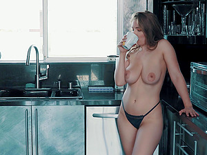 Busty Lena Paul wants a friend to fuck her tight hairy pussy