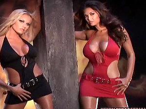 Sultry Briana Banks poses for the webcam in spectacular costume