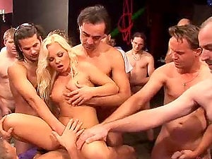 Lusty platinum-blonde honey Sharka Blue gets fucked hard by 50 studs