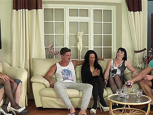 Emma Louise and her friends like it when they get fucked hard
