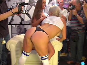 Spanish Lesbians Public Exhibition