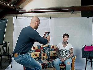 Tattooed German MILF takes a big dick