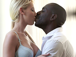 Big load of black cock makes Kimber Delice reach an orgasm