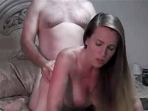 Pregnant wife gets fucked on webcam cum on ass