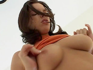 Big-boobed brown-haired honey Brooke likes it enormous in culo