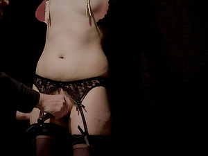 Playing with a delicious cock pleases this kinky girl the most