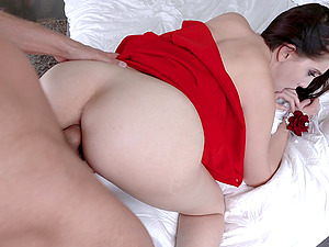 Nickey Huntsman surprises a friend by bouncing on his dick