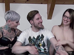 Threesome with two hot German babes