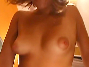 Extremely cute blonde amateur was a bit nervous on filming her first sex video