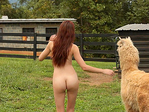 Nature lover Courtney gets naked on a farm and enjoys the outdoors