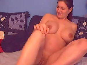 Nice preggo girl shows her massive jugs for the camera