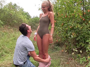 Dude got to taste the beautiful teen Tiffany Tatum