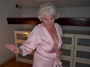 Granny Norma cheats on her sleeping hubby with a younger stud