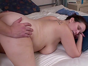 Fat wife sucking and fucking her husbands thick cock