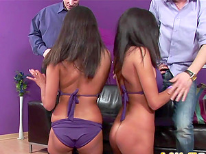 Two horny MIFLs get stiff dicks in ass