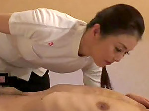Pounding hot labia of sexy Japanese rubdown woman