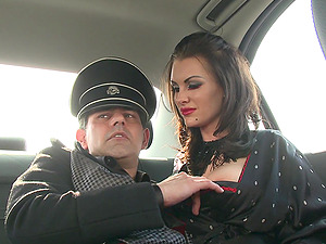 Kinky FFM costumed threesome with two busty sluts and one lucky guy