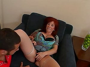 Brittany O'Connell deepthroats Danny Mountain's dick before taking it in her snatch