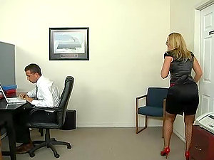 Monster Man rod Threesome In The Office