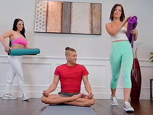 Hardcore ass fuck FFM threesome with Adriana Chechik and Angela White