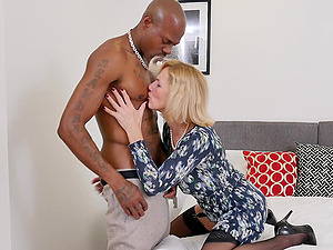 Big black cock pounds Molly Maracas missionary style hardcore