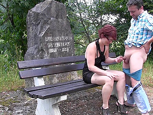 German Amateur Slut fucked at the First date Outdoor