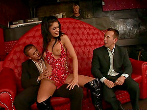 Bachelor Soiree Finishes Up With Three Hard-ons for Sorana the Stripper
