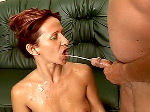 Crimson Haired Mummy Gets Pissed On And Pummeled