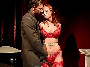 Ginger Katy Parker Sobs For Help As She Is Predominated