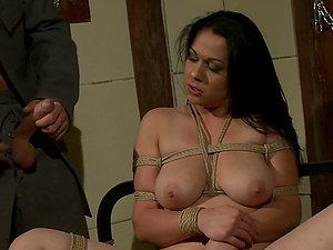 Raven Haired Stunner Gets Ravaged In Subjugation Scene