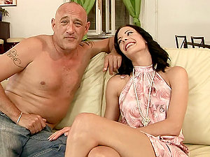 Bruno trains Liz how to get fucked with giant dicks