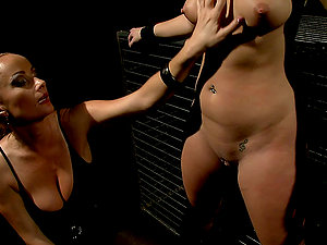 Linda Ray lets Katy Parker put clothes pegs on her nice cootchie