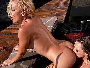 Two stunning moist nymphs eat their hot vaginas