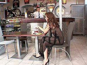Spunky Judith Fox having wild ass fucking bang-out in a bar