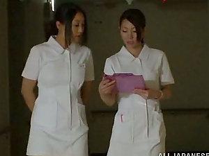 Amazing FFFM 4 way in the Hospital with Japanese Nurses