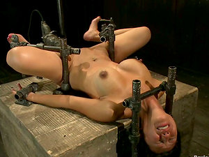 Tia Ling the Bondage & discipline loving Asian damsel gets her caboose drilled