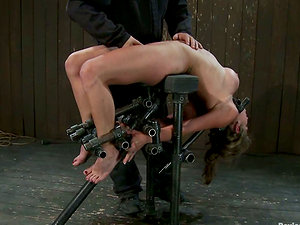 Authoritative Bitch Playing with Her Big-titted Romp Victim in Girl/girl Bondage & discipline Vid