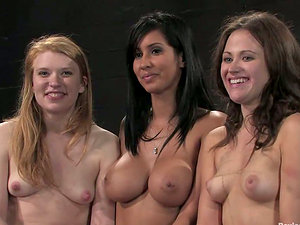 Three sizzling chicks love being chained in a loathsome basement