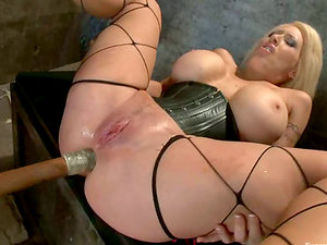 Bootylicious chicks plaything their backsides and get fucked rough