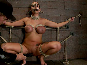 Tied Trina Michaels Gets Toyed and Tormented with Clothespins and Ropes
