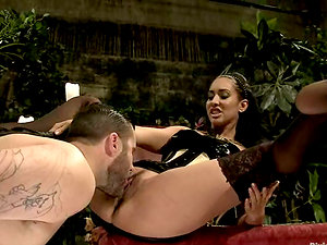 Hot Jizz-shotgun Rail and Face Sitting Activity Plus Pegging by Isis Love