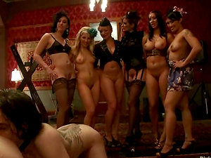 Female domination Fuckfest with Hot Authoritative Ladies Playing with Servant Guys