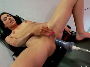 Lou Charmelle gets toyed in her hot arse by a machine