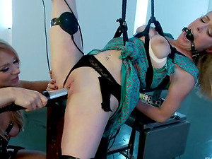 Playing and Strapon Hook-up for Penny Pax in Sapphic Female dominance Restrain bondage Vid