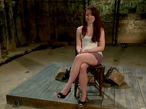 AnnaBelle Lee Getting Strapon Fucked in Sapphic Bondage & discipline Vid by Bobbi Starr