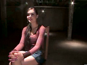 Hot Sasha Grey gets abjected and toyed in a basement