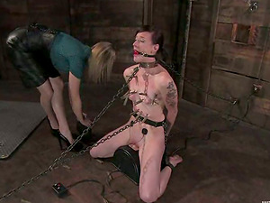 Sapphic Domination & submission Female dom Vid with Torment and Frolicking Activity