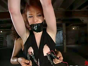 Predominated Red-haired Justine Joli Gets Beaver Tantalized and Fucked in Lez Domination & submission
